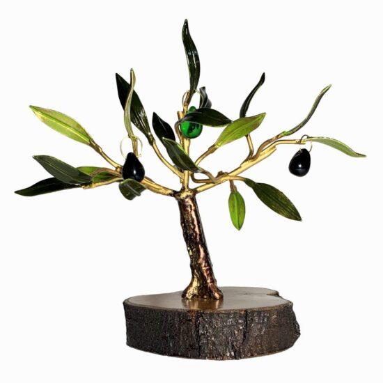 Olivo artesanal pequeño para decoración y regalo