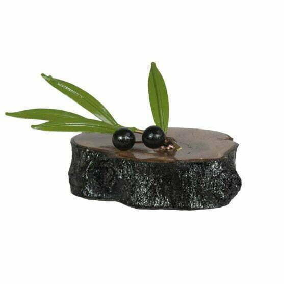 Rama de olivo con dos aceitunas para regalo
