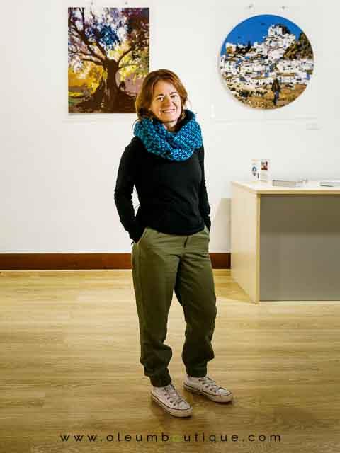 Olivos hechos arte por Isabel Lozano