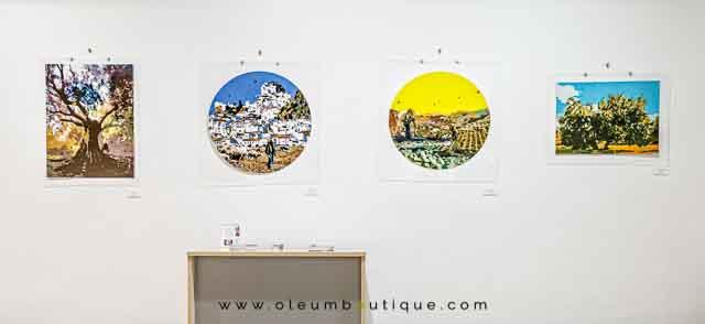 Olivos en la Exposición de Isabel Lozano Artista Visual en Úbeda