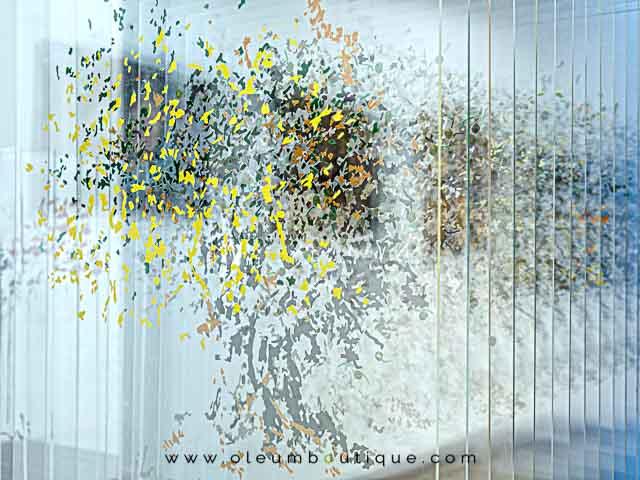 Pintura de Olivar en 3D de Isabel Lozano
