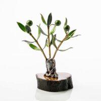 Olivo decorativo artesanal fabricado en metal y madera