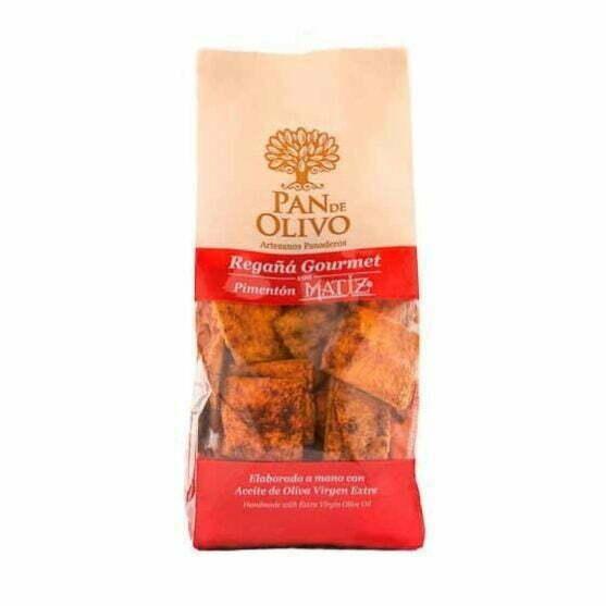 Regañá Gourmet PAN de OLIVO con Pimentón