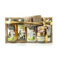 Cesta de cosméticos para regalo surtidos con aceite de oliva Cosméticaolivo
