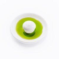 Cuenco degustación para Aove gourmet redondo blanco brillante