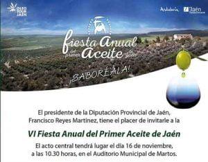 VI Fiesta Anual del Primer Aceite de Jaén