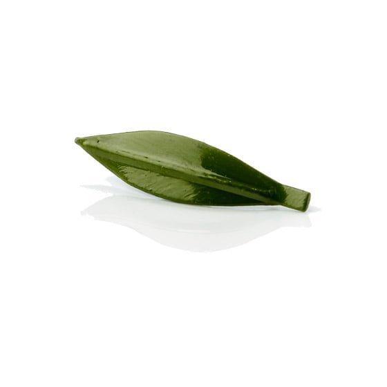 Pin de hoja de olivo verde oliva hecho a mano